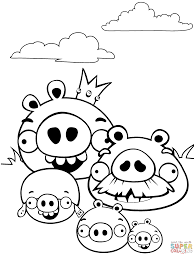 Angry Bird Pigs Coloring Pages 2