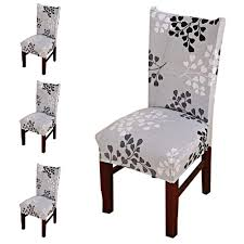 Nuosen 4 Pcs Dining Chair Covers,Modern Stretch Chair Covers ... Stretchy Chair Covers Best Home Decoration Btsky New High Back Office For Computer Subrtex Square Knit Stretch Ding Room 4pcs Cover Elastic Trade Me 160gsm Gold Spandex Banquet Tablecloths Floral Sure Fit Wing Slipcovers Of White Wingback Chair Black Your Inc Geometric Pattern Upholstery Easyfit Carolwrightgiftscom Red