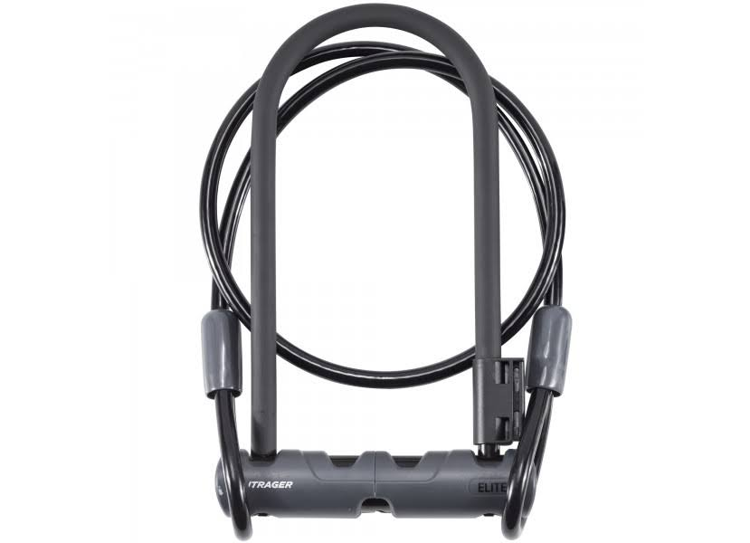 Bontrager Elite Keyed U-Lock with Cable - Black