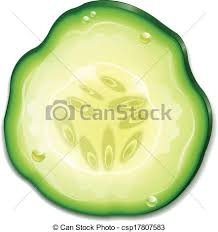 Slice cucumber vector Search Clip Art Illustration Drawings
