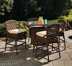 Bar Height Bistro Patio Set by Patio Awesome High Top Patio Set High Top Patio Set Bar Height