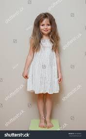 girl white knitting dress long stock photo 441299941