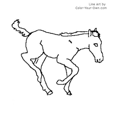 Arabian Mare And Foal Coloring Page
