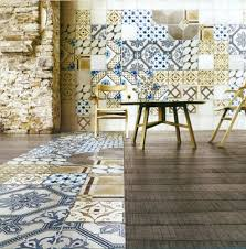 depiction of casa antica tile lifts every interior to face