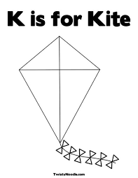 K Is For Kite Coloring Page From TwistyNoodle