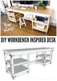desk build to suit study desk downloadable woodworking plan pdf