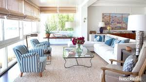 Coastal Style Living Room Furniture Example Of A Small