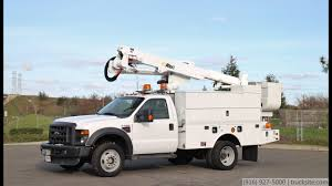 100 Ford Bucket Truck 2009 F550 4x4 Altec AT37G 42 Articulated YouTube