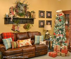 Worthing Court Rustic Christmas Tree And Vintage Mantel