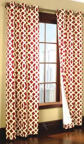 Geometric Pattern Grommet Curtains by Curtain U0026 Bath Outlet Trellis Thermalogic Grommet Curtain Red