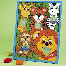 Jungle Animal Character Bean Bag Toss Game