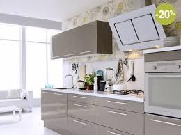 papier peint cuisine gris cuisine fly blanche taupe et à prix canon