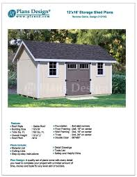 12 X 24 Gable Shed Plans by Project Plans For 12 X 16 Shed Reverse Gable Roof Style Design