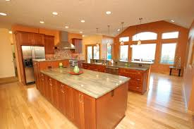 brown white yellow kitchen color theme and contemporary
