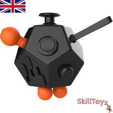 Top Quality Fidget Cube 12 Sided Desk Toy Black