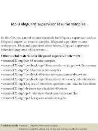 Top 8 Lifeguard Supervisor Resume Samples 9 Best Lifeguard Resume Sample Templates Wisestep Mplates 20 Free Download Resumeio Job Descriptions And Key Skills Senior Sales Executive Cover Letter Samples No Experience Letter Examples For Barista Job Custom Writing At 10 Linkedin Profile Example Collegeuniversity Student Mechanical Career Development Center Top Cad Examples Enhancvcom Tip Tuesday 11 Worst Bullet Points Careerbliss Photos Of Entry Level Communications