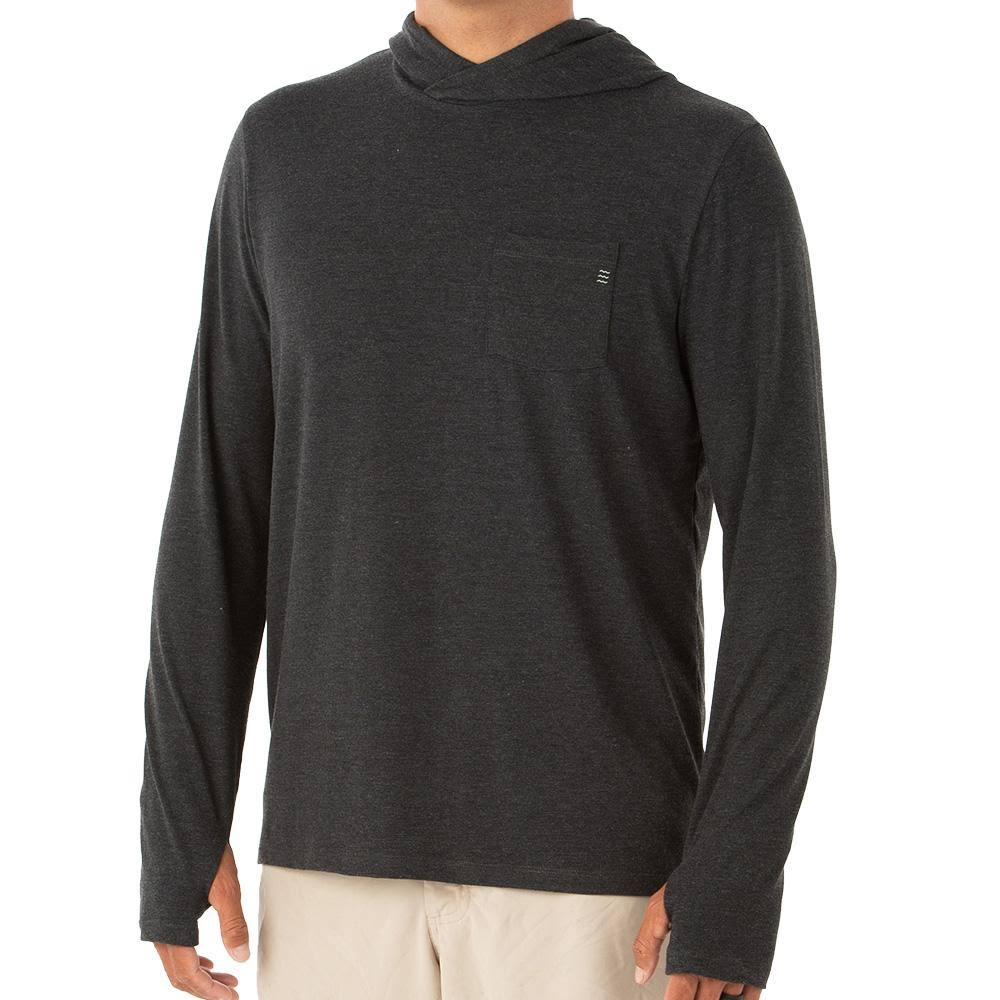 Free Fly Apparel: Men's Bamboo Crossover Hoody - Heather Black