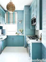 Blue Kitchen Decor Ideas Teal Cabinets Home Design