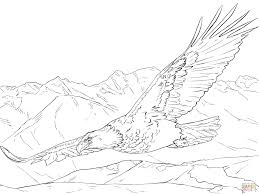 Click The Bald Eagle Soaring Coloring Pages To View Printable