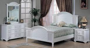 White Wicker Bedroom Furniture Decoration Ideas