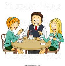 Coffee Chat Clipart 1