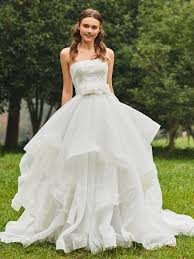 Rustic Country Wedding Dresses Lace Fresh Princess Cheap Gowns Line For