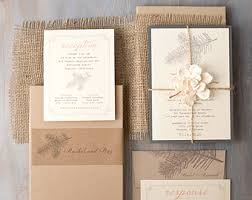 Burlap Boxed Wedding Invitations Woodland Enchanted Forest Invites Rustic