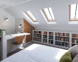 Knee Wall Shelves White Stained Wooden Bookshelf For Minimalism Bedrom Design Occupying Walls With Bookcases