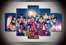 Dragon Ball Z Decorations by New 5 Pieces Sets Canvas Art 5 Panels Dragon Ball Z Hd Canvas
