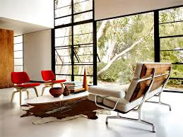 Eames Molded Plywood Lounge Chair With Wood Base Upholstered