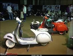 Vintage Bike Display At India Superbike Festival Pune Vespa02