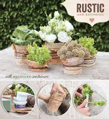 DIY Tutorial Rustic Natural Wedding Centerpiece Idea
