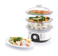 steamer cuisine black decker 775w 3 tiers food steamer hs6000 white xcite