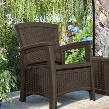 Sams Club Wicker Deck Box by Suncast Elements Resin Patio Storage Club Chair Java Walmart Com