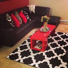 Red And Black Living Room Decorating Ideas by I Would Probably Use A Different Accent Color Or Either Use A