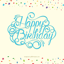 Happy birthday card in lettering style Vector
