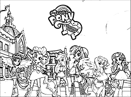 Coloring Pages My Little Pony Equestria Girls Outside Canterlot High Promotional