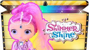 shimmer and shine toys diy shimmer doll make your own toy videos