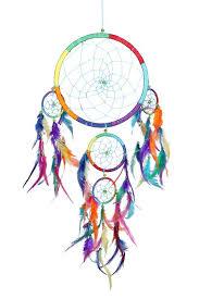 dreamcatcher regenbogen bunter traumfänger indianer