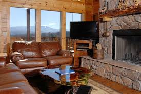 Living Room : Brown Leather Sofa In Log Living Room Idea Log Home ... Best 25 Log Home Interiors Ideas On Pinterest Cabin Interior Decorating For Log Cabins Small Kitchen Designs Decorating House Photos Homes Design 47 Inside Pictures Of Cabins Fascating Ideas Bathroom With Drop In Tub Home Elegant Fashionable Paleovelocom Amazing Rustic Images Decoration Decor Room Stunning