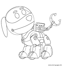 PAW Patrol Robo Dog Coloring Pages