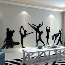 Ballet Dancer Design Acrylic Wall Sticker DIY Stickers For Kids Room Dancing School Beauty Salon Decoration In From Home Garden On