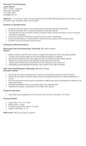 Resume Examples Cashier Experience