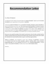 Scholarship Recommendation Letter Format Template For Phd Sample