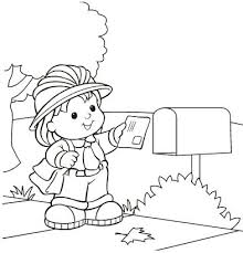 Mail Carrier Free Coloring Pages