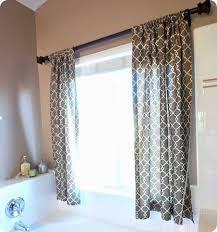 Design Bathroom Window Treatments by Idea For Curtains On Our Bathroom Window Above The Tub Like It A
