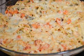 gratin de pâtes aux légumes et aux crevettes la cuisine des p