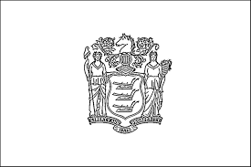 New Jersey Flag Coloring Page