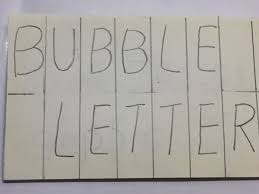 How to draw bubble letters step by step Quora