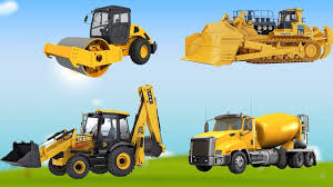 100 Kids Dump Truck Learn Car Names Video For Tractor Excavator
